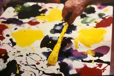 Fotografía Blum - Sam Francis painting (close up)