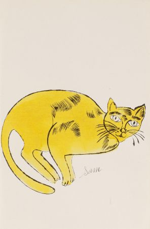 Litografía Warhol - Sam (From 25 Cats named Sam and one blue Pussy, FS IV. 67A.)