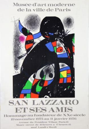 Litografía Miró - Sans Lazzaro et ses Amis