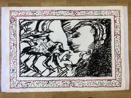 Litografía Alechinsky - Sans l'ecorce