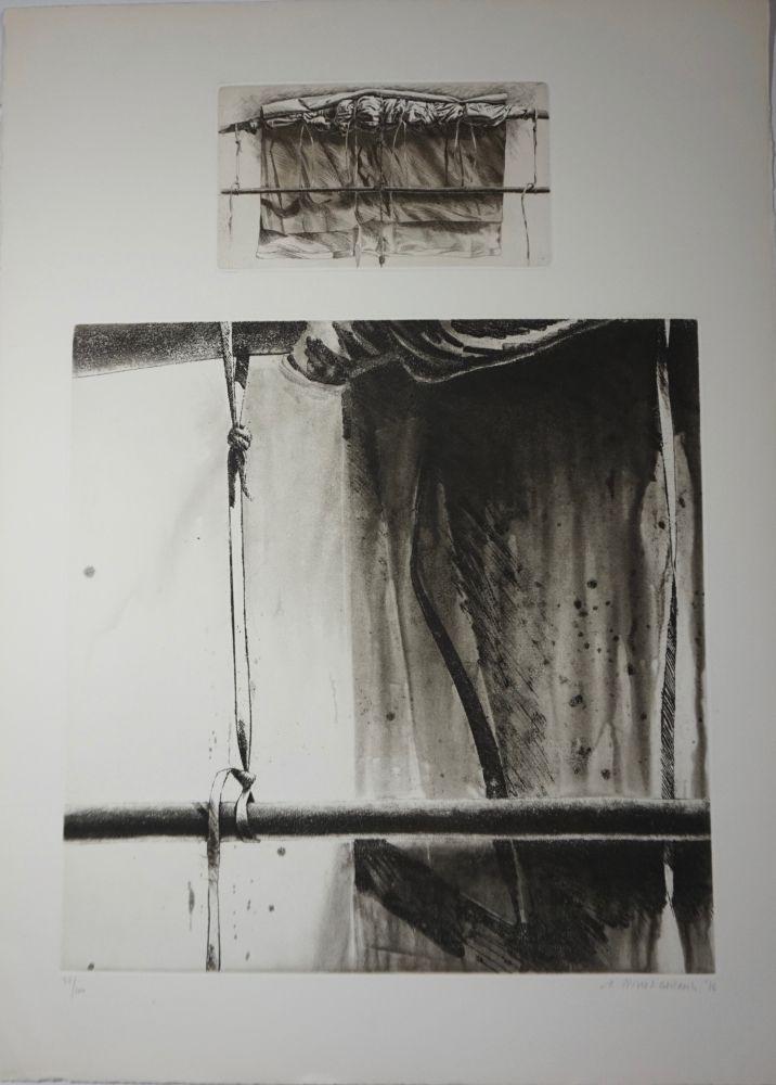 Litografía Titus Carmel - Sans titre