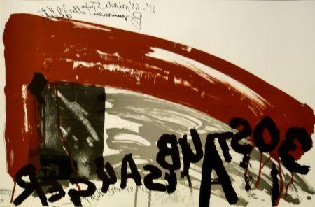 Litografía Vostell - Sans titre