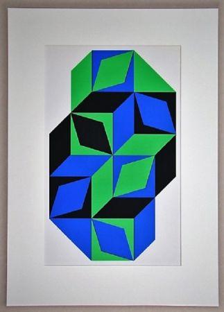 Serigrafía Vasarely - Sans titre