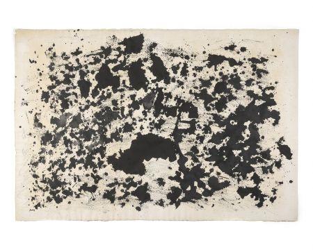 Sin Técnico Michaux - Sans titre, 1978. Encre et huile, monogrammée.