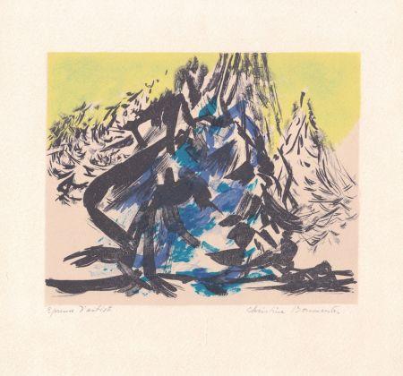 Litografía Boumeester - Sans titre [Montagne]
