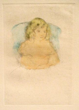 Punta Seca Cassatt - Sara Smiling (c. 1904)