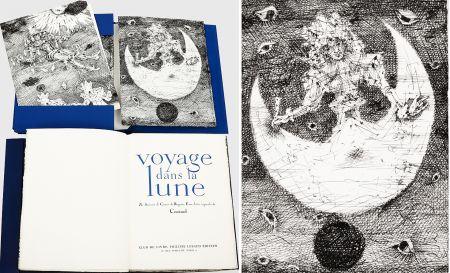 Libro Ilustrado Coutaud - Savinien CYRANO DE BERGERAC : VOYAGE DANS LA LUNE. Eaux-fortes originales de Coutaud.