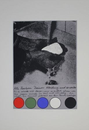 Serigrafía Rühmann - Scharfe Überlegung