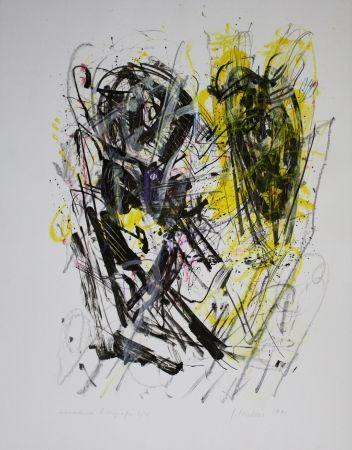 Litografía Czichon - Schwarz - Gelb / Black - Yellow