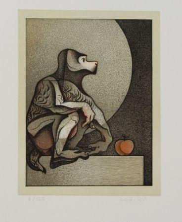Litografía Bodini - Scimmietta
