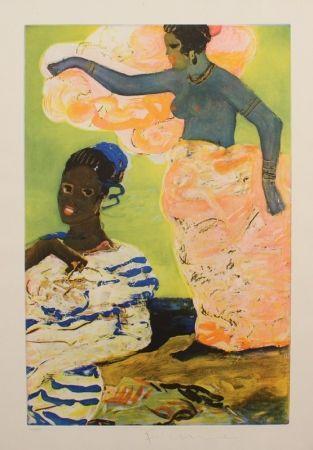 Aguafuerte Fiume - SCOGLIERA DI SOMALIA