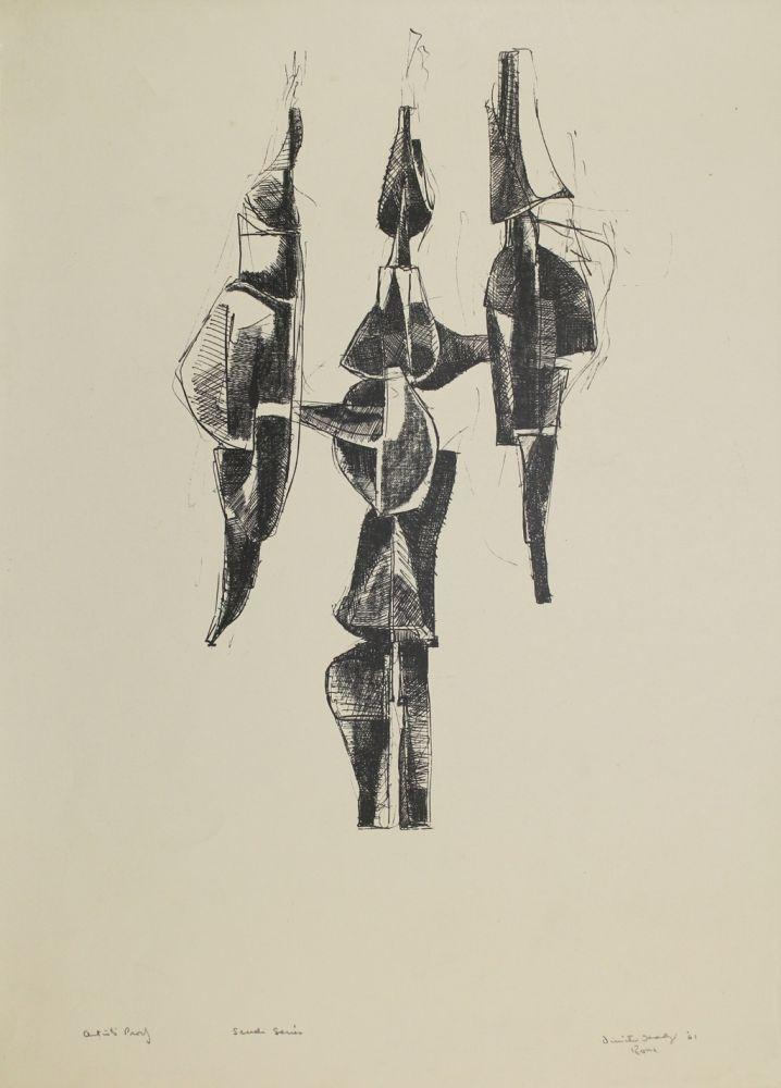 Litografía Hadzi - Scudi Series