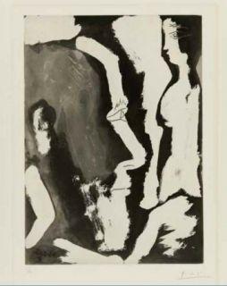 Aguafuerte Y Aguatinta Picasso - Sculpteur travaillant à un buste de femme II