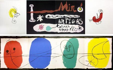 Libro Ilustrado Miró - SCULPTURE IN CERAMIC BY MIRÓ AND ARTIGAS. TERRES DE GRAND FEU. December, 1956
