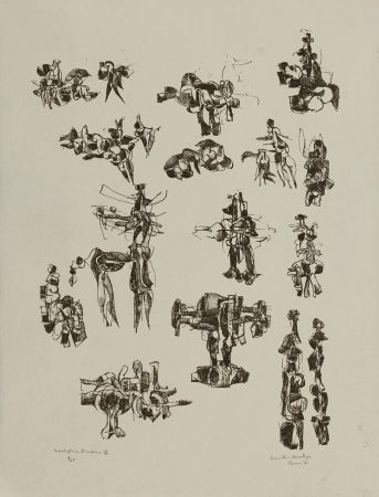 Litografía Hadzi - Sculpture Studies V