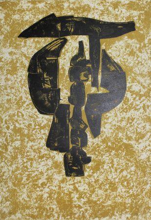Litografía Hadzi - Sculpture Study
