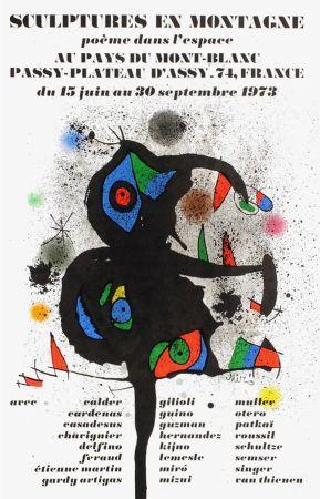 Cartel Miró - SCULPTURES EN MONTAGNE. EXPO 1973. Affiche originale.