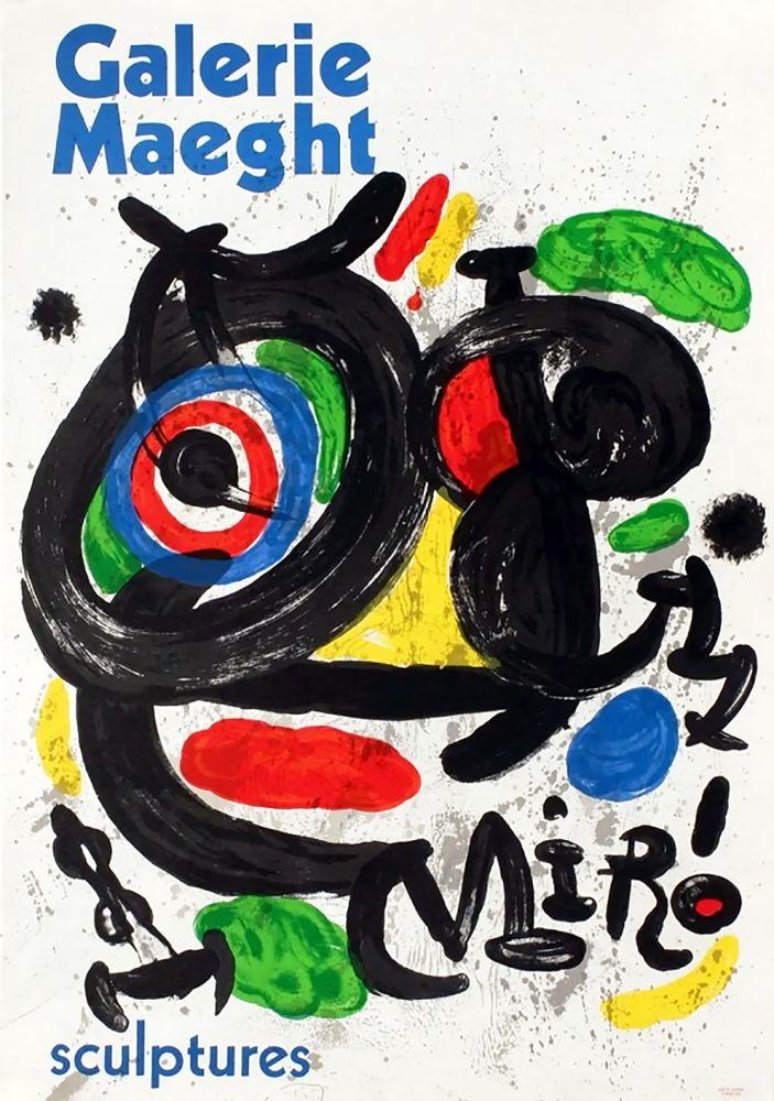 Cartel Miró - SCULPTURES . Exposition Galerie Maeght, 1970. Affiche originale.