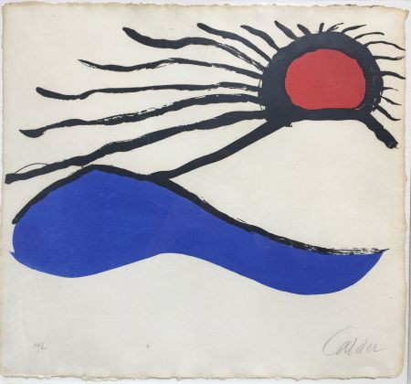 Litografía Calder - Seascape