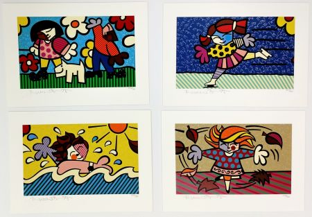 Serigrafía Britto - SEASONS OF MIRACLES - SUITE OF 4