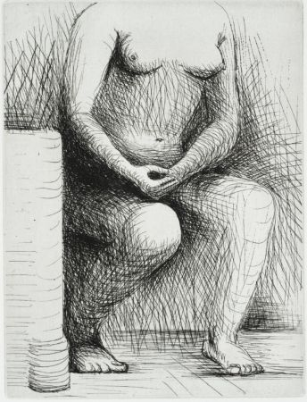 Grabado Moore - Seated Figure