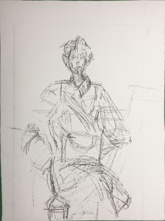 Litografía Giacometti - Seated Figure (Derrière le Miroir n°127. 1961. Deluxe)