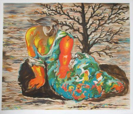Litografía Chia - Seated Woman