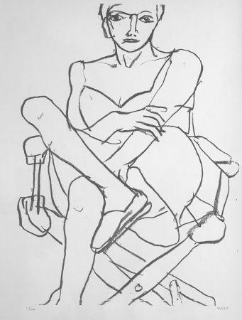 Litografía Diebenkorn - Seating woman in Chemise