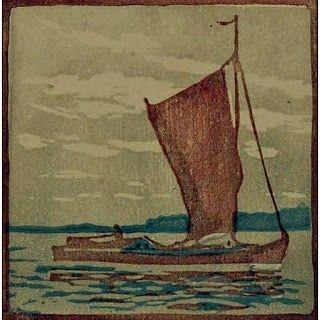 Grabado En Madera Mass - Segelboot / Sailboat