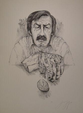 Litografía Grass - Selbst mit Handschuh und Stein