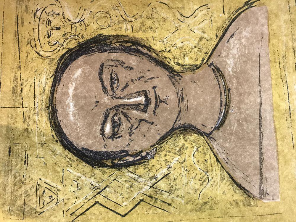 Litografía Campigli - Selbstbildnis