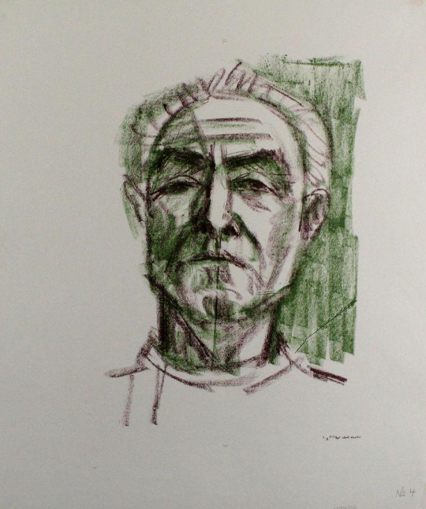 Litografía Bargheer - Selbstbildnis