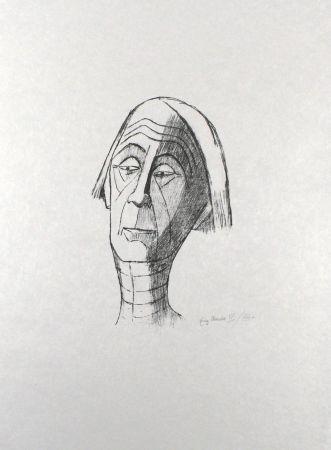 Litografía Roeder - Selbstbildnis