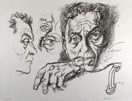 Litografía Guttuso - Selbstbildnis