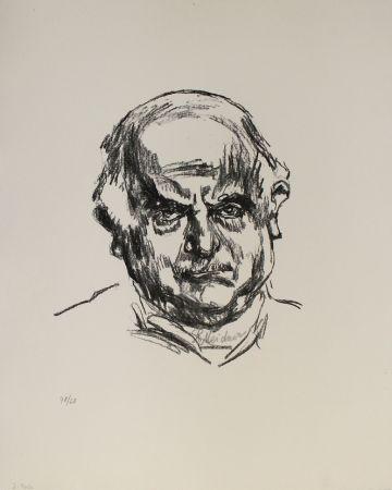 Litografía Meidner - Selbstbildnis en face