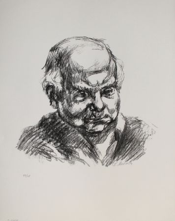Litografía Meidner - Selbstbildnis nach rechts