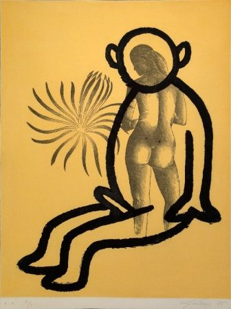 Aguatinta Lüthi - Selbstporträt aus der Serie der großen Gefühle I
