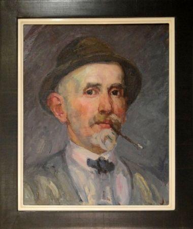 Sin Técnico Marxer - Selbstporträt mit Hut und Brisago