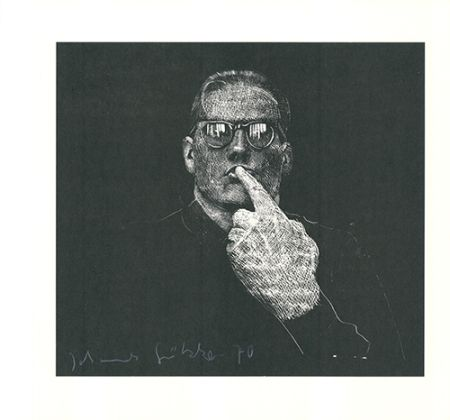 Linograbado Grützke - Selbstportrait