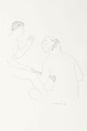 Grabado Duchamp - Selected Details after Ingres I
