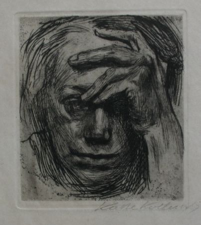 Grabado Kollwitz - Self-portrait