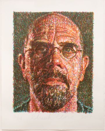 Serigrafía Close - Self-Portrait