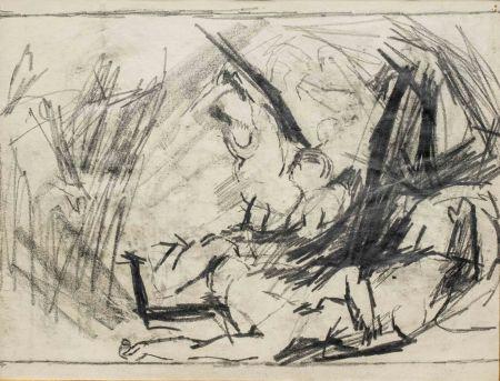 Sin Técnico Auerbach - Self-Portrait and Study of the Brazen Serpent
