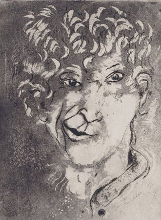 Aguafuerte Y Aguatinta Chagall - Self-Portrait with Grimace