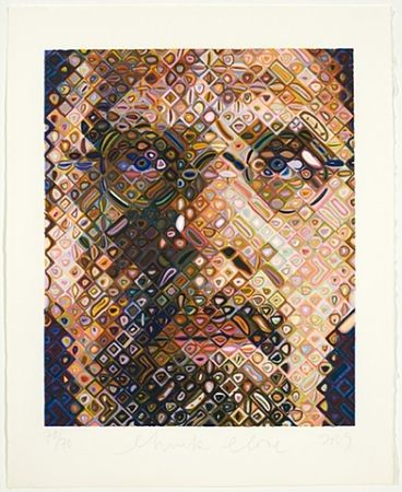 Grabado En Madera Close - Self-Portrait Woodcut