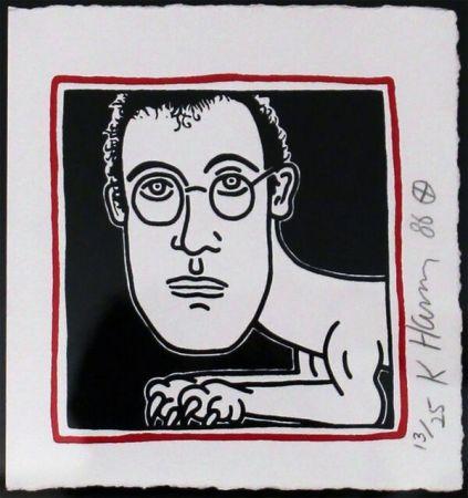 Serigrafía Haring - Self Portrait