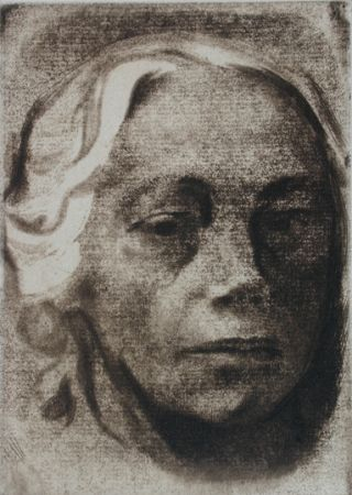 Grabado Kollwitz - Self Portrait