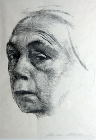 Litografía Kollwitz - Self Portrait