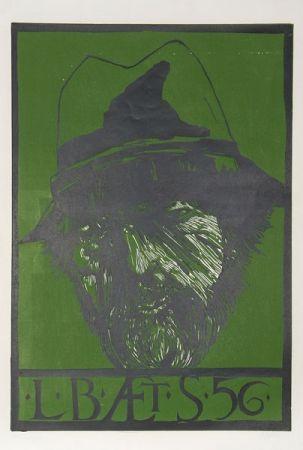 Linograbado Baskin - Self Portrait -