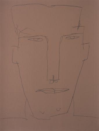 Litografía Brown - Self Portrait 17